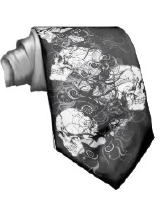 Skull Designs on Mens Ties