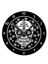 Skull Designs on  Clocks