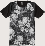 All Over Print Skull T-Shirts