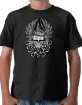 Skull Designs on T-Shirts